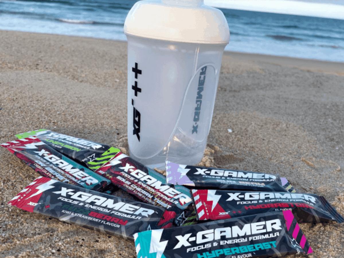 X Gamer Energy Drink shaker and sachets