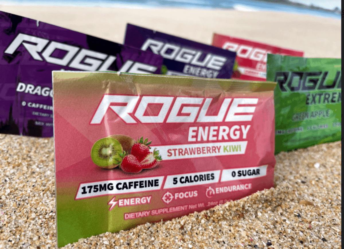 Rogue energy drinks sachets