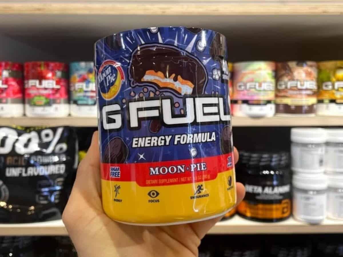 G Fuel powdered energy drink in tub