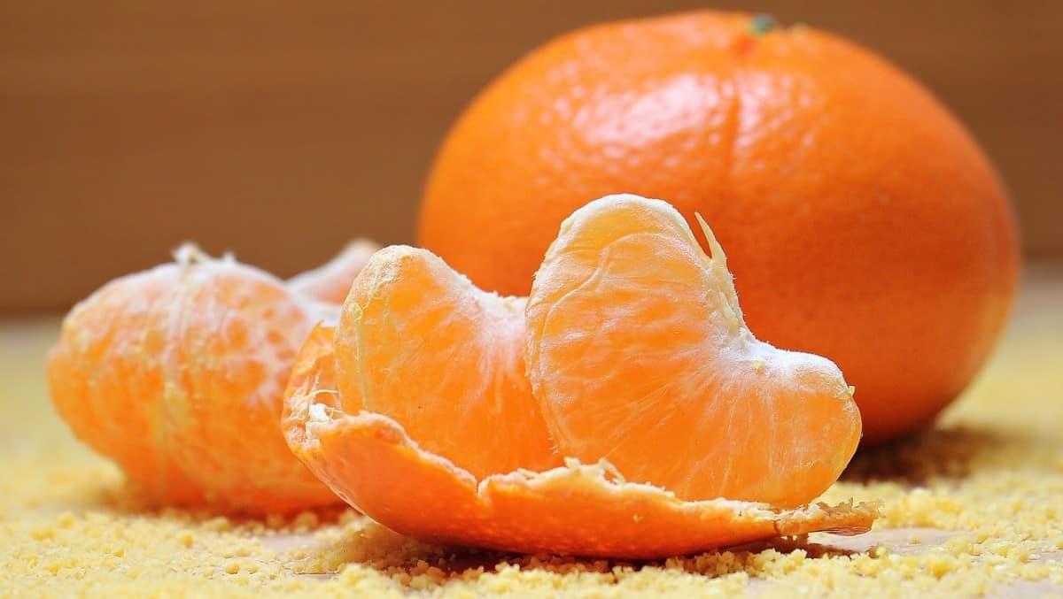 Peeled tangerine.