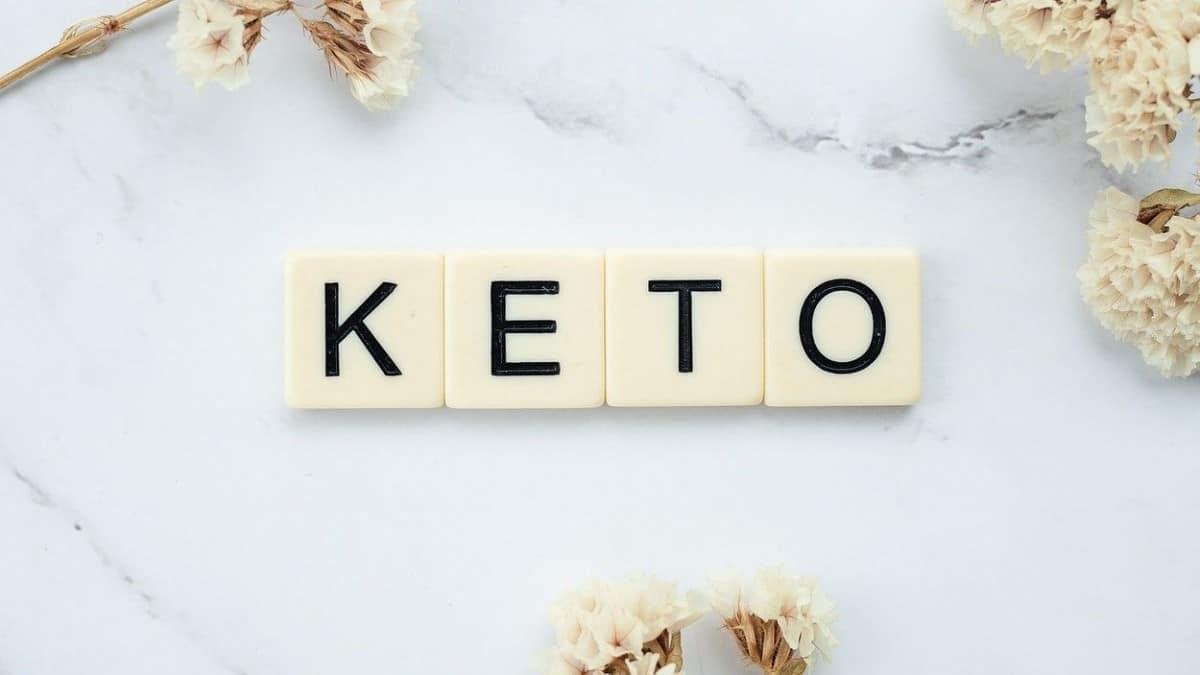 Keto written in word blocks.