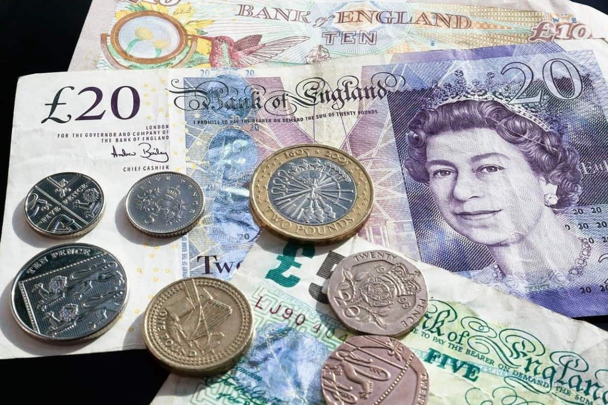 The currency of the United Kingdom.