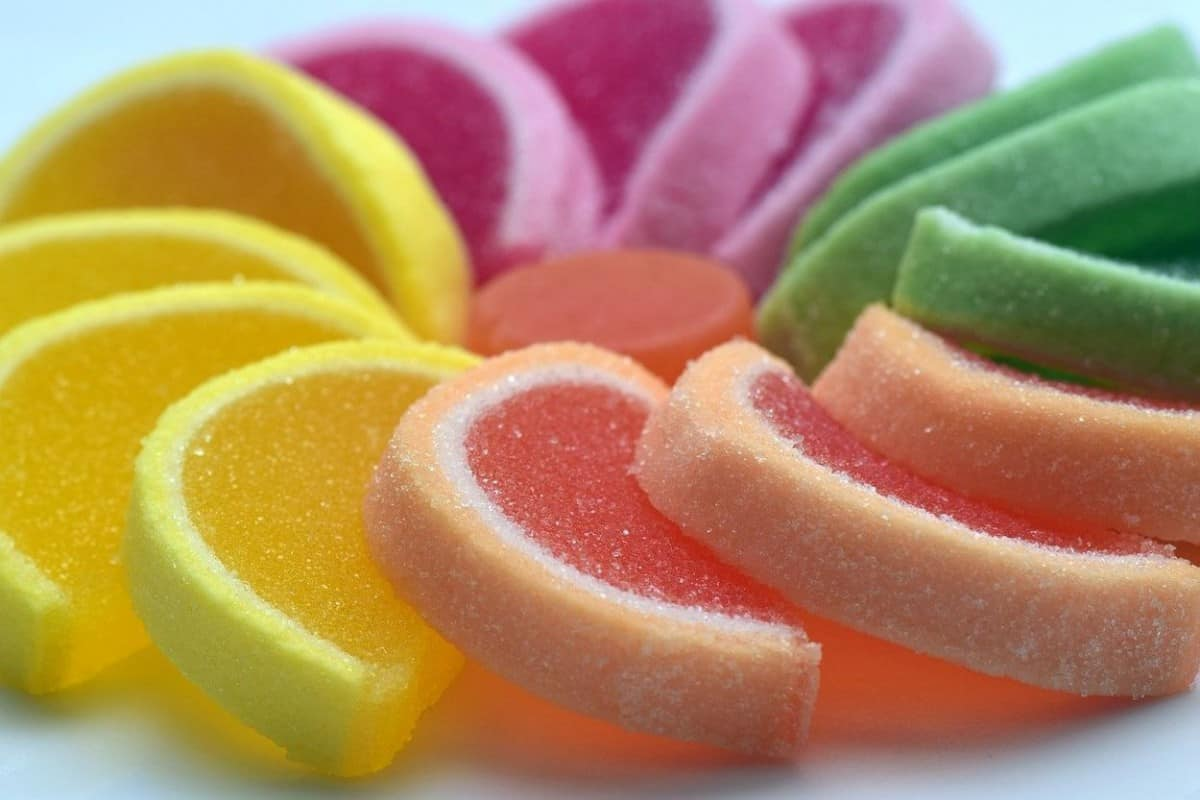Decorated colorful candies.