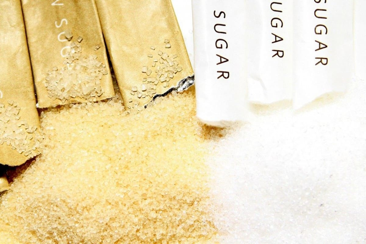 Different types of sugar.