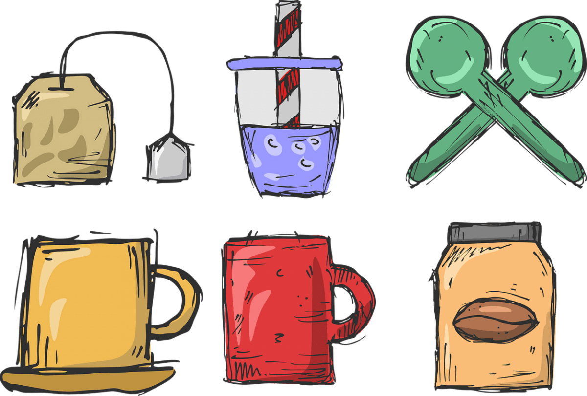 Caffeine is usually present in tea, coffee, and other energy drinks.