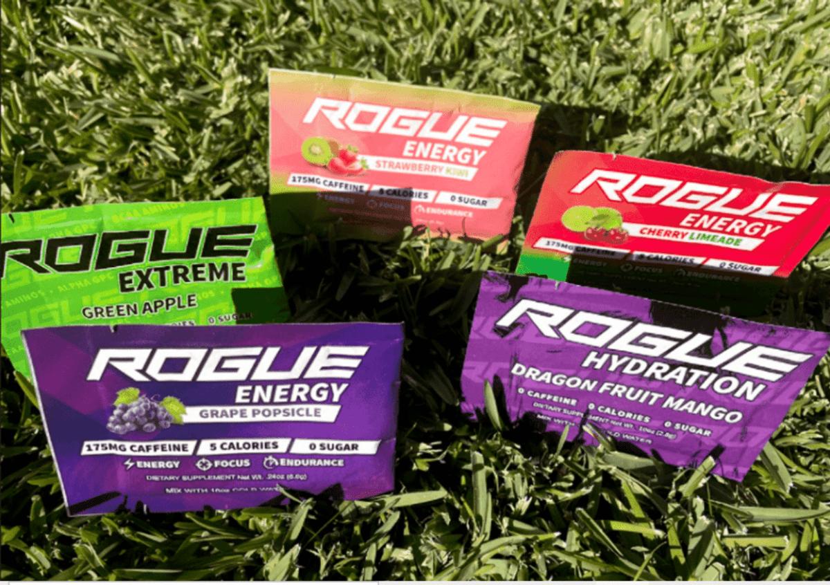 Sachets of Rogue Energy.