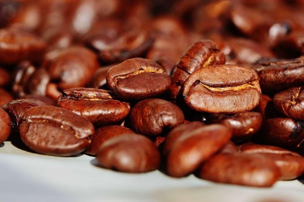 Roasted caffeine on the surface.