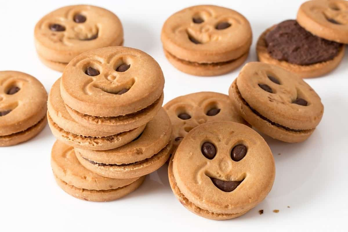Smiley face cookies.