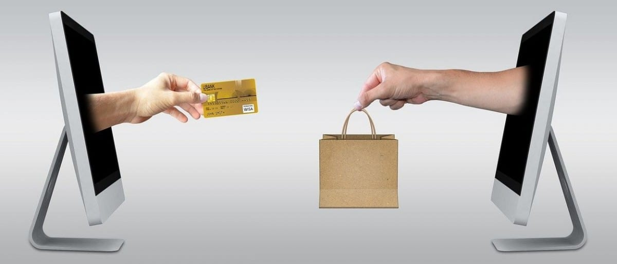 Buying and selling goods online.