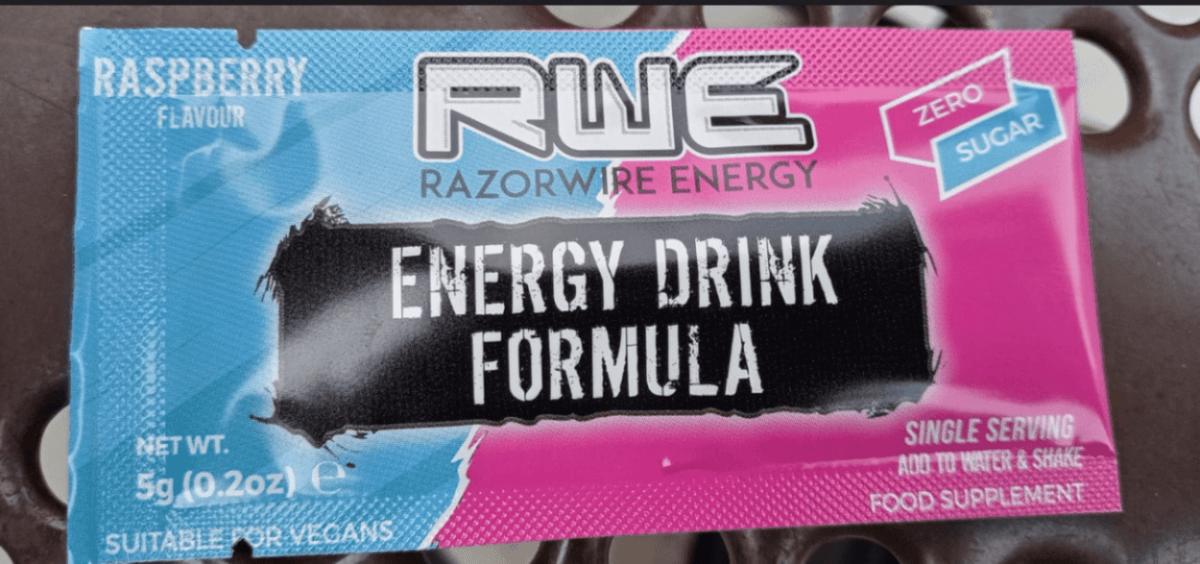 Razorwire energy drink in sachet