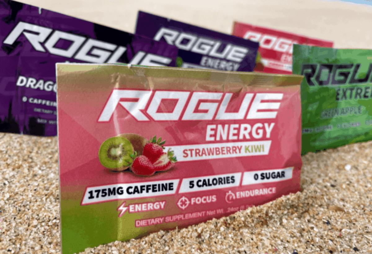 Few sachets of Rogue Energy.