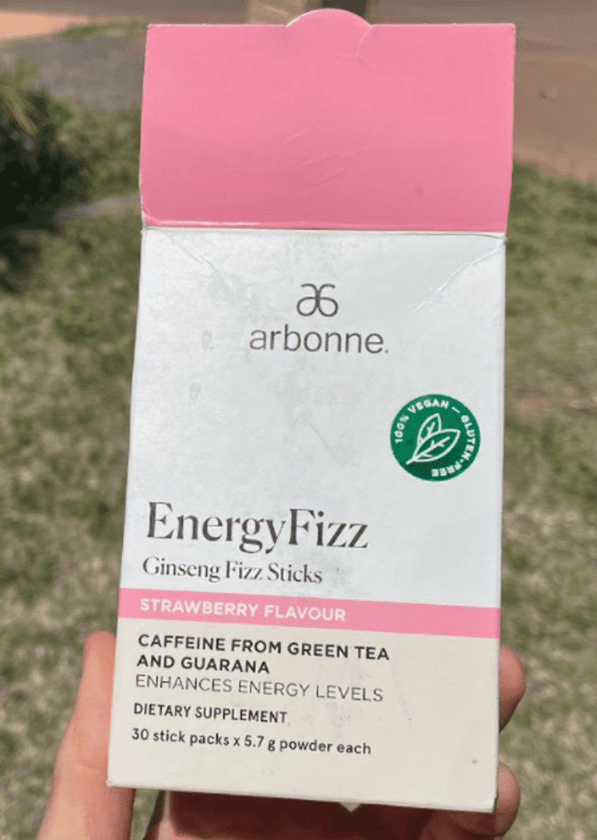 A packet of Arbonne Fizz Energy including few sachets inside.
