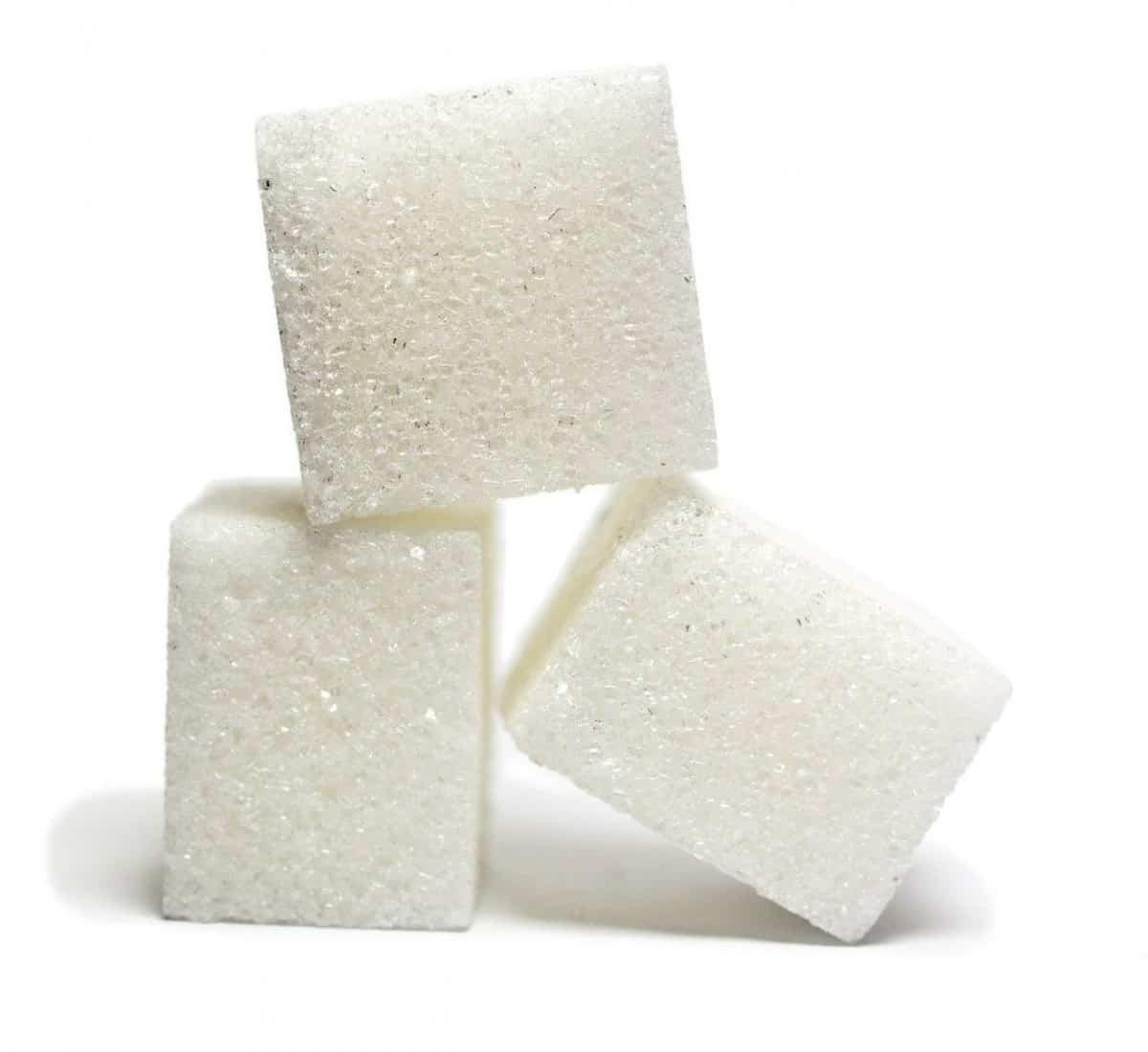 Three lumps of sugar.